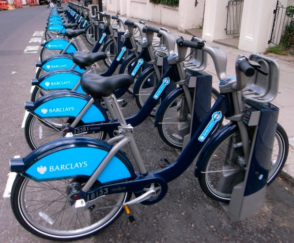 Barclays Cycle Hire bicycles